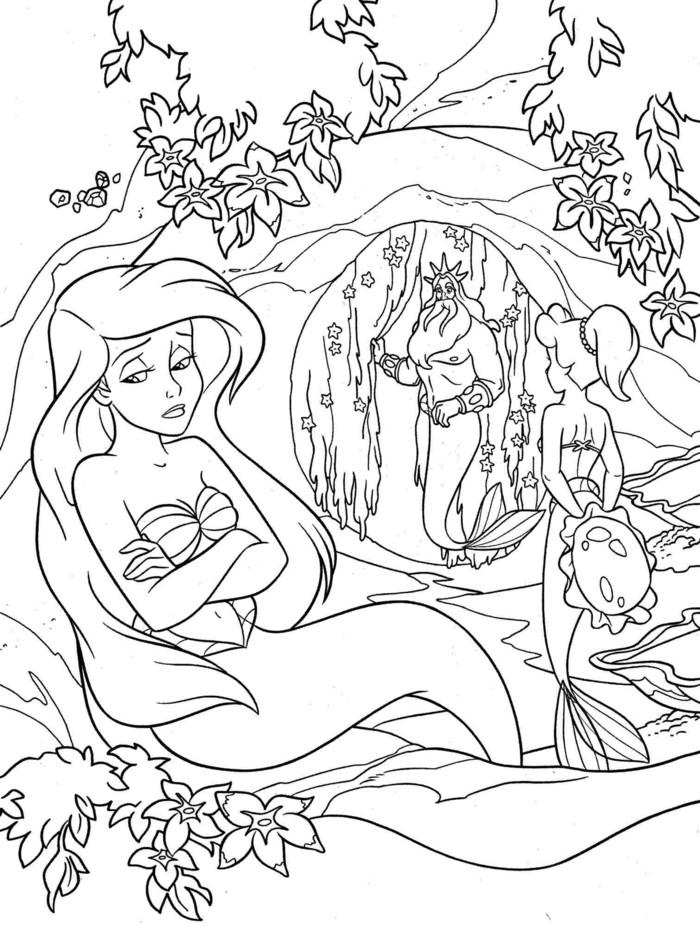 la-petite-sirene-cool-idée-pour-se-distraire-dessin -arbre