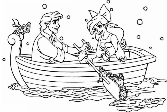 la-petite-sirene-cool-idée-pour-se-distraire-dessin -bateau