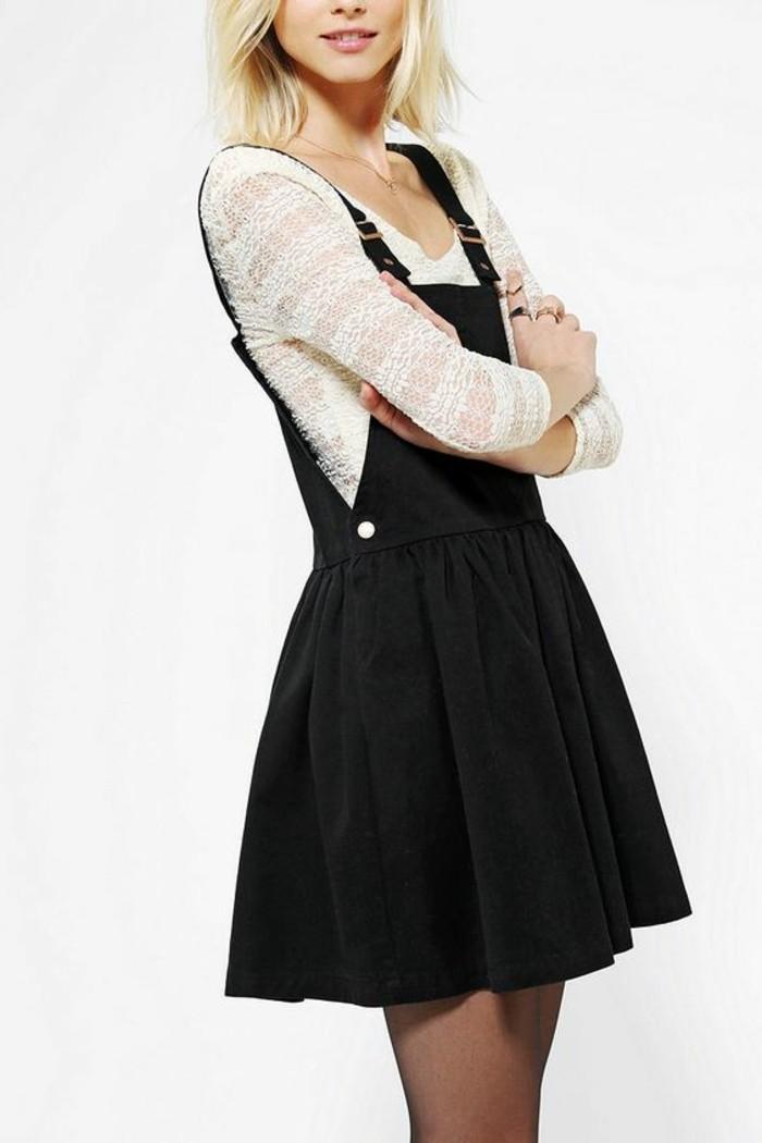 la-robe-longue-zara-salopette-robe-cool-idée-tenue-noire