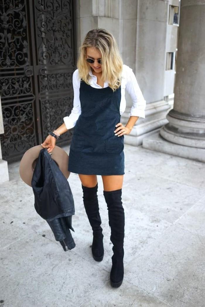 la-robe-longue-zara-salopette-robe-cool-idée-tenue-velvet-bottes-hautes