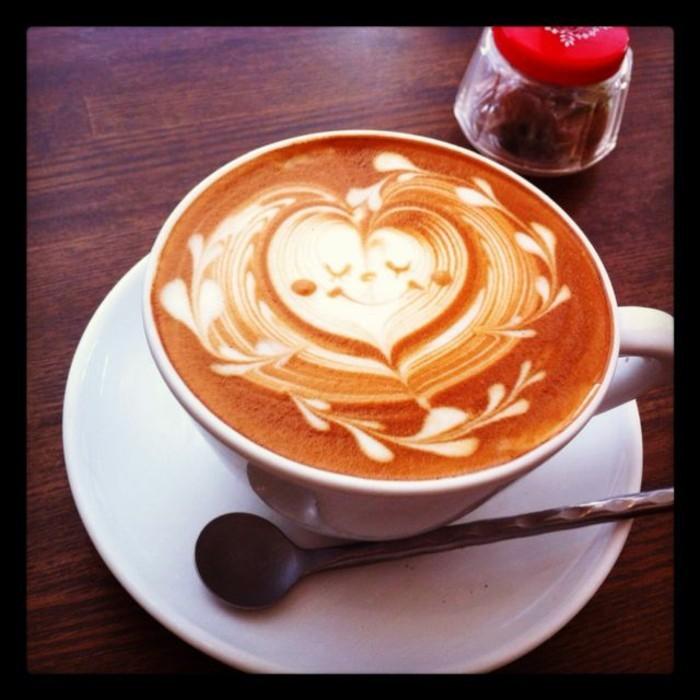 Comment Faire Un Coeur Dans Une Tasse De Cafe