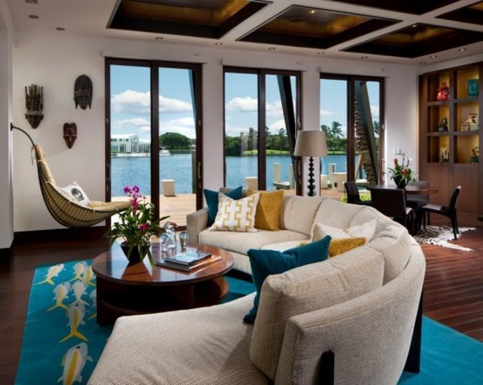 Design d 39 int rieur avec meubles exotiques 80 id e magnifiques archzi - Maison coloniale en bois ...