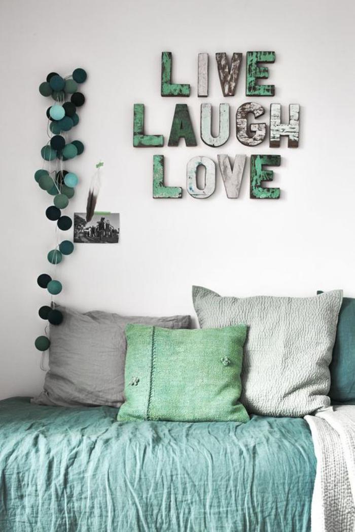 La lettre murale cr ation unique pour une d coration - Lardoise murale noire un objet de deco pour votre interieur ...