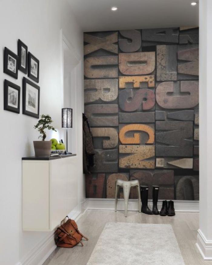 lettre-murale-décoration-murale-d'entrée-blanche