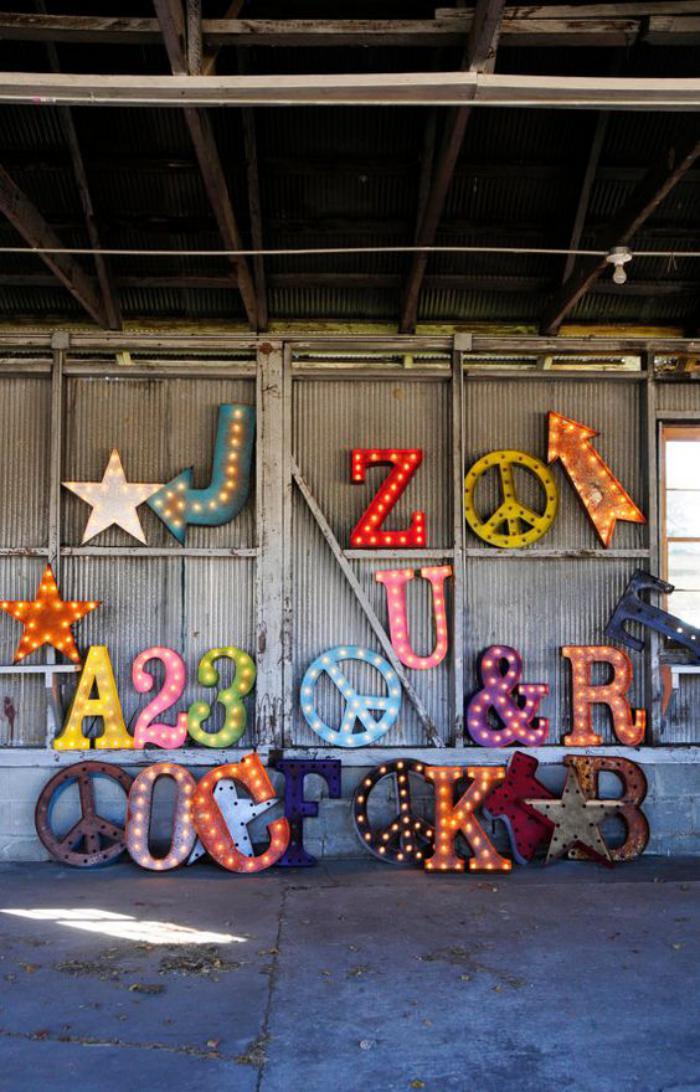 lettre-murale-décoration-rétro-lumineuse
