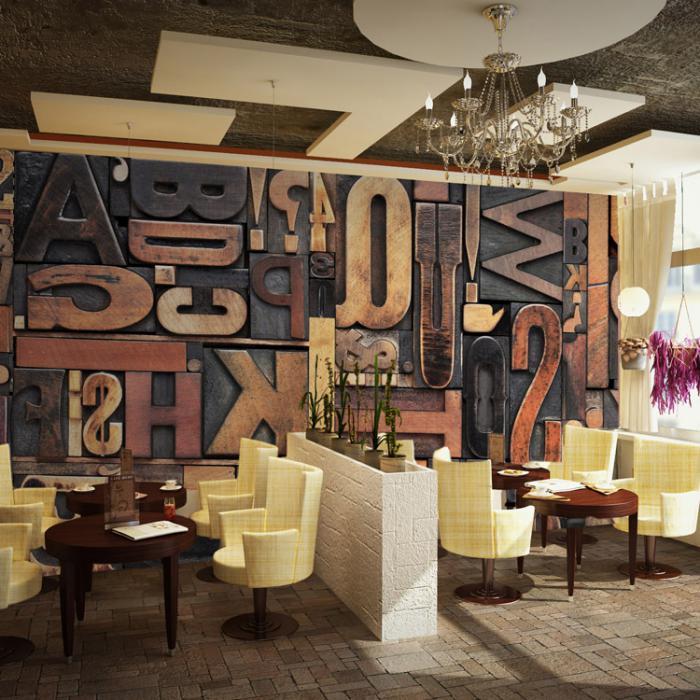 La lettre murale cr ation unique pour une d coration murale r ussie archz - Lettre decoratives murales ...