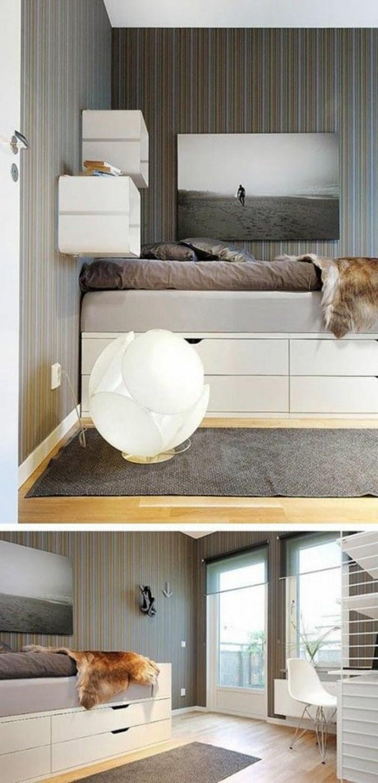 lit-adulte-pas-cher-murs-gris-lit-tiroir-tapis-gris-plafond-blanc-lit-coffre-ikea-tapis-gris