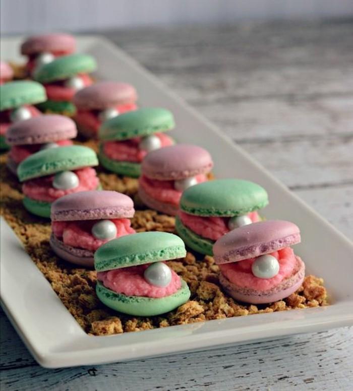 macarons-anniversaire-chouette-idée-déco-ariel-petite-sirène