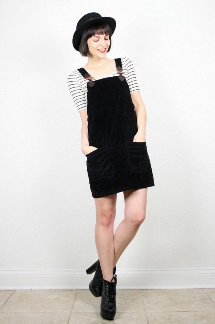 magnifique-combinaison-short-robes-zara-à-la-mode-chapeau