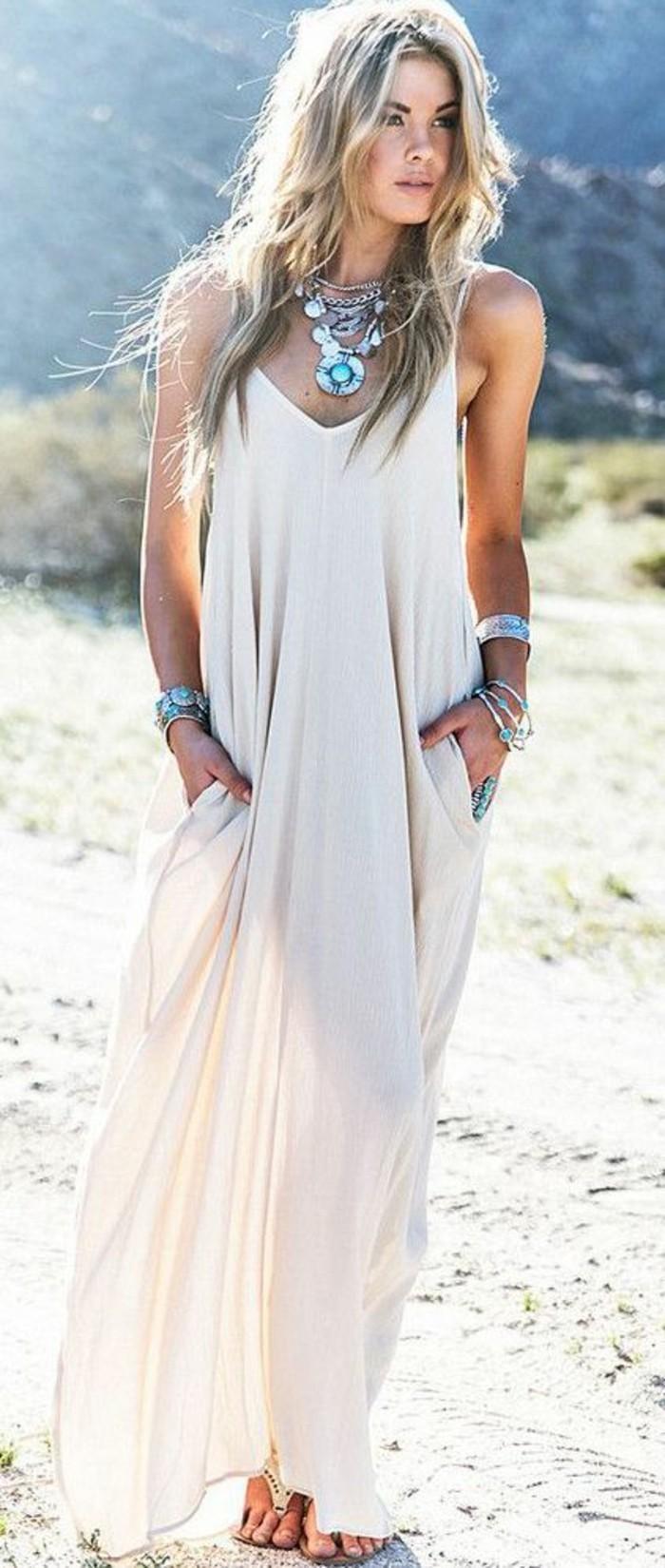 magnifique-robe-plage-grande-taille-tenu-de-plage-une-idée-cool-long-blonde