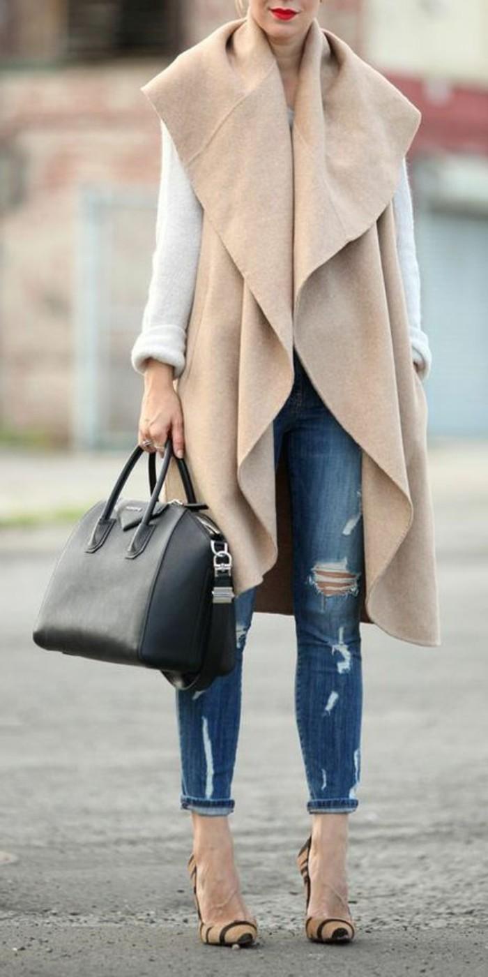 manteau-sans-manche-femme-tenue-de-jour-stylé-bella