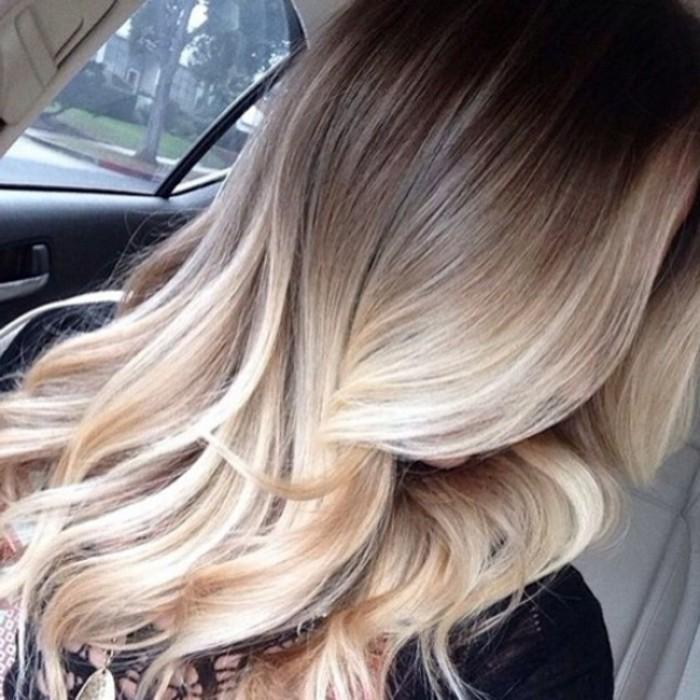 Balayage blond ou caramel pour vos cheveux ch tains - Balayage blond caramel ...