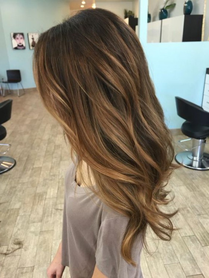 Meche brune sur cheveux blond photo coiffures la mode - Meche miel sur brune ...