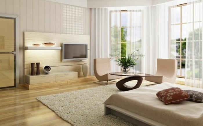 meubles-beiges-comment-agrandir-son-salon-tapis-beige-meubles-taupes