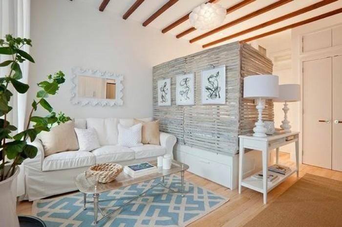 meubles-beiges-pour-petit-salon-couleur-taupe-tapis-bleu-beige-table-de-salon-basse