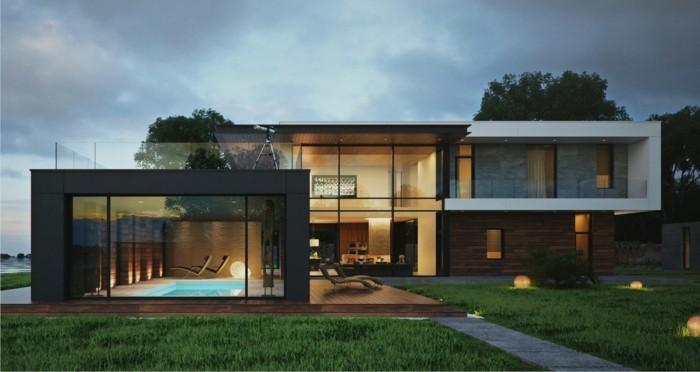 Vous tes int ress s par une maison toit plat 84 for Maison cube moderne prix