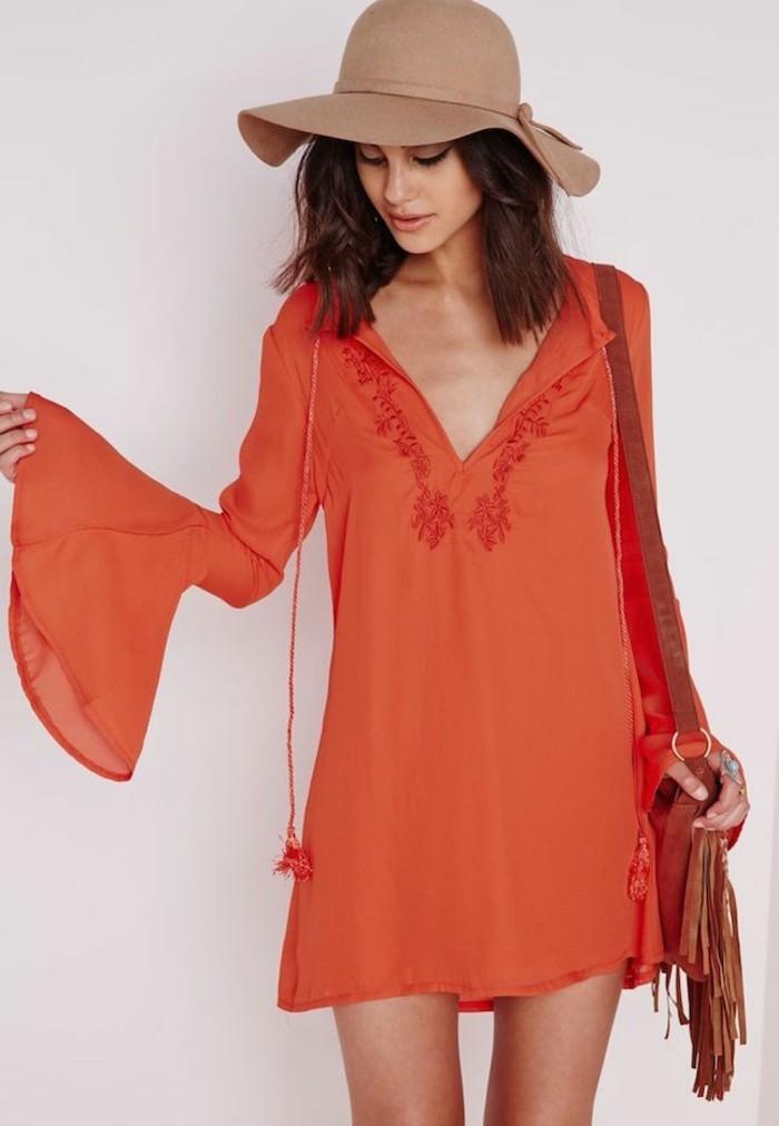 notre-robe-plage-femme-style-bohème-chic-originale-orange