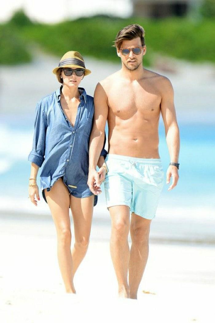 olivia-palermo-homme-mrachent-sur-la-plage-les-couples-celebres-d-hollywood