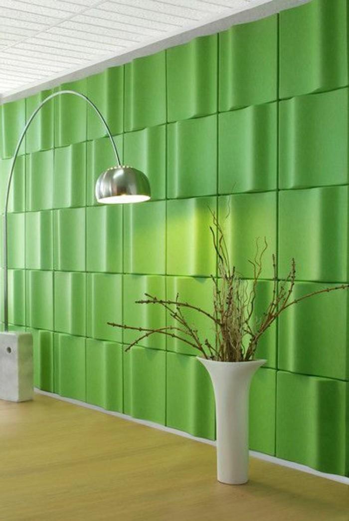panneau-décoratif-vert-comment-decorer-les-murs-revetement-mural