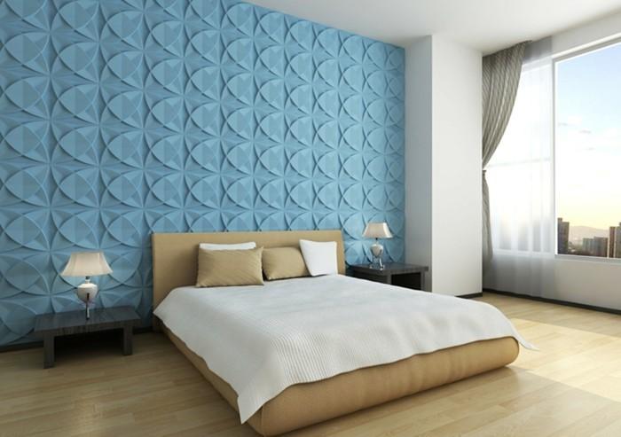 panneaux-muraux-bleus-comment-decorer-les-murs-dans-la-chambre-a-coucher