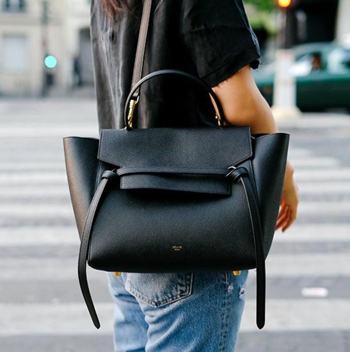 petit-sac-bandoulière-femme-pas-cher-tenue-de-jour-noire