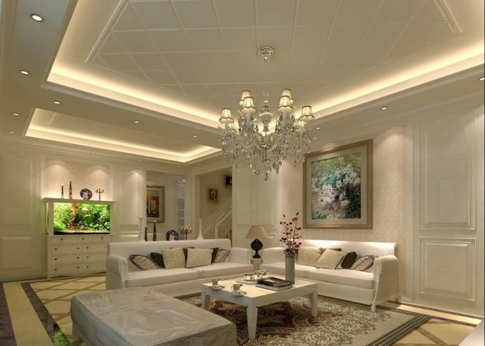 D coration plafond pour se cr er un ciel personnalis - Deckendesign wohnzimmer ...