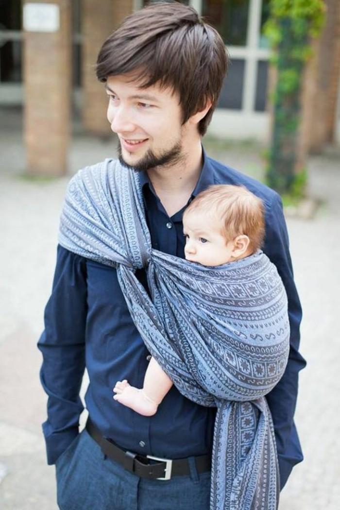 porte-bebe-kengourou-portage-bébé-avec-echarpe-echarpe-de-portage-sans--noeud