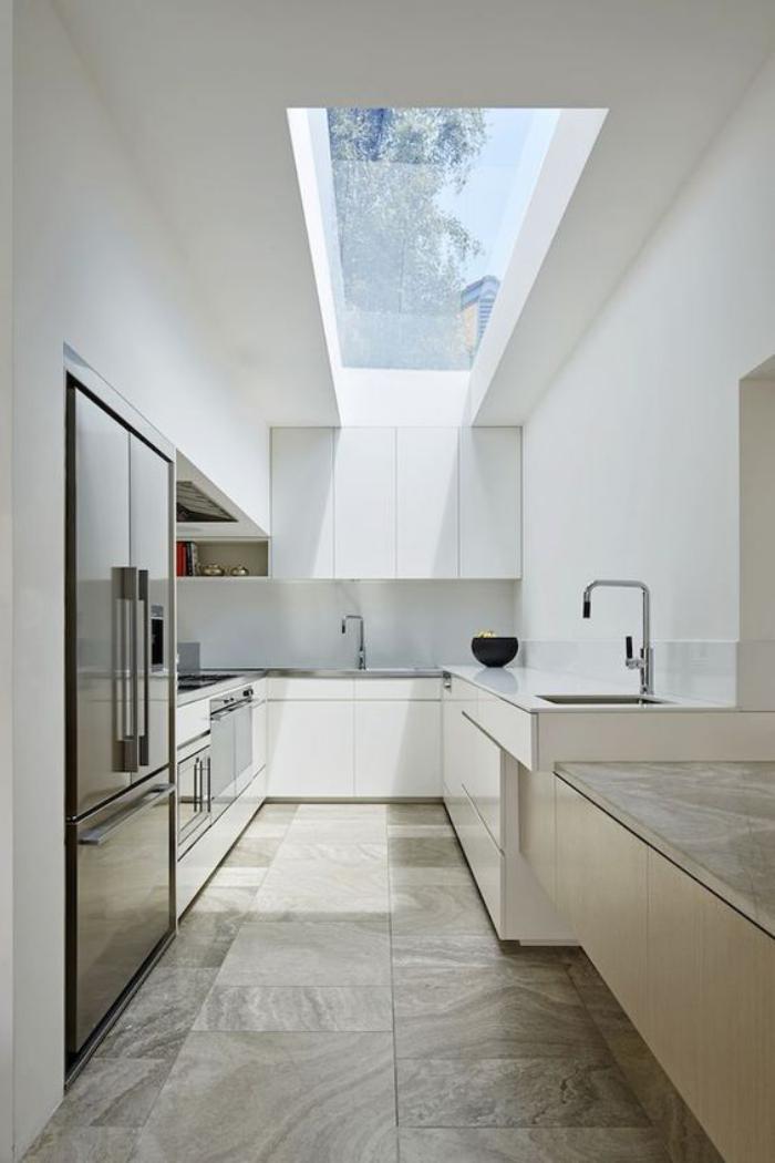 puits-de-lumière-cuisine-contemporaine-lignes-épurées