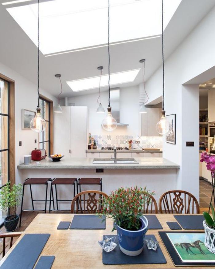 puits-de-lumière-cuisine-ouverte-style-contemporain