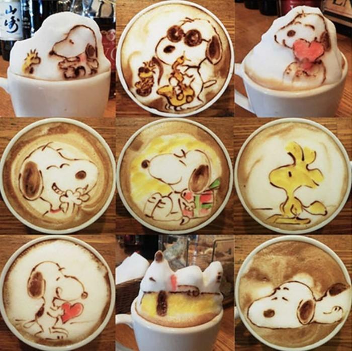 recette-café-frappé-peinture-de-crème-frais-recette-frappé-peinture-abstraite
