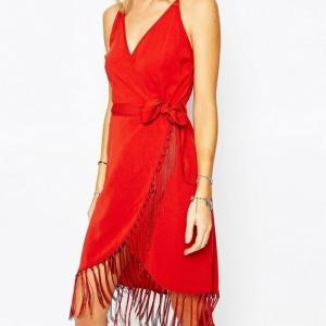 Robe portefeuille rouge - à avoir absolument pour l'été