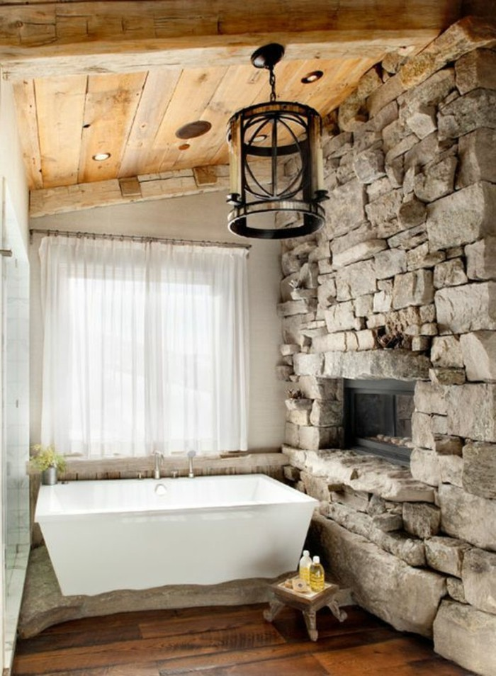 Salle de bain rustique chic pinterest Solutions pour la