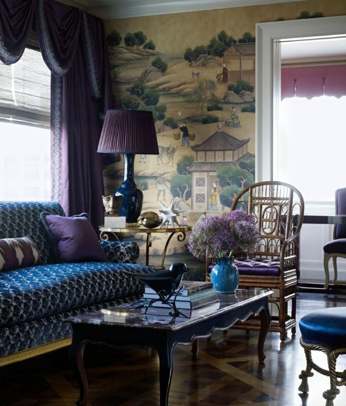salle-de-sejor-violet-et-bleu-belle-deco-ethnique-meubles-design-pas-cher