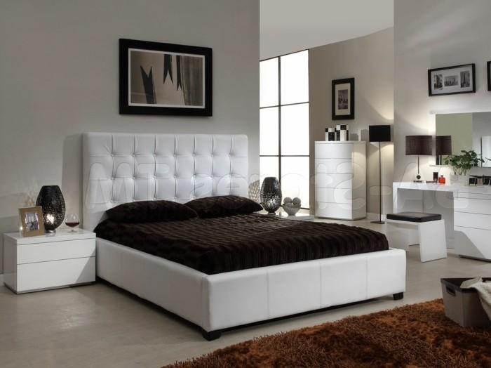 Chambre noire et blanche signification des couleurs et - Deco chambre adulte gris et blanc ...
