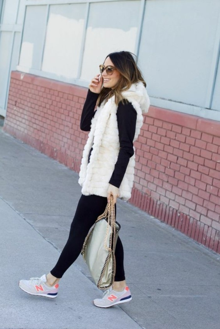 sneakers-nike-veste-fourrure-blanche-blouse-noire-lunettes-de-soleil-cheveux-balaygae