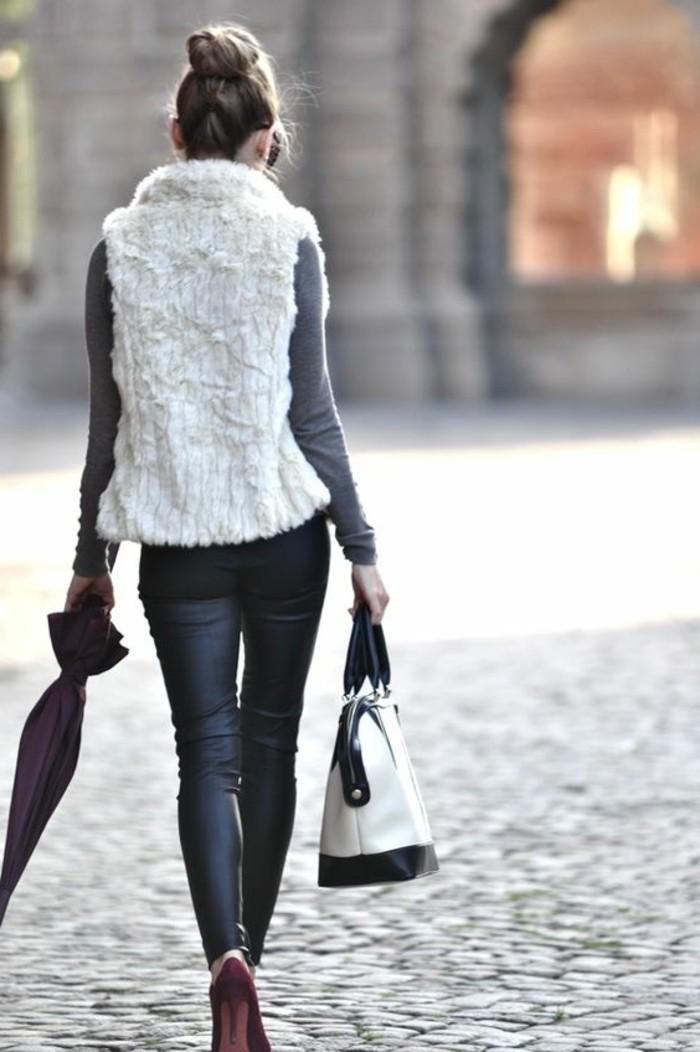style-femme-pour-2016-gilet-long-sans-manche-femme-pantalon-cuir-noir