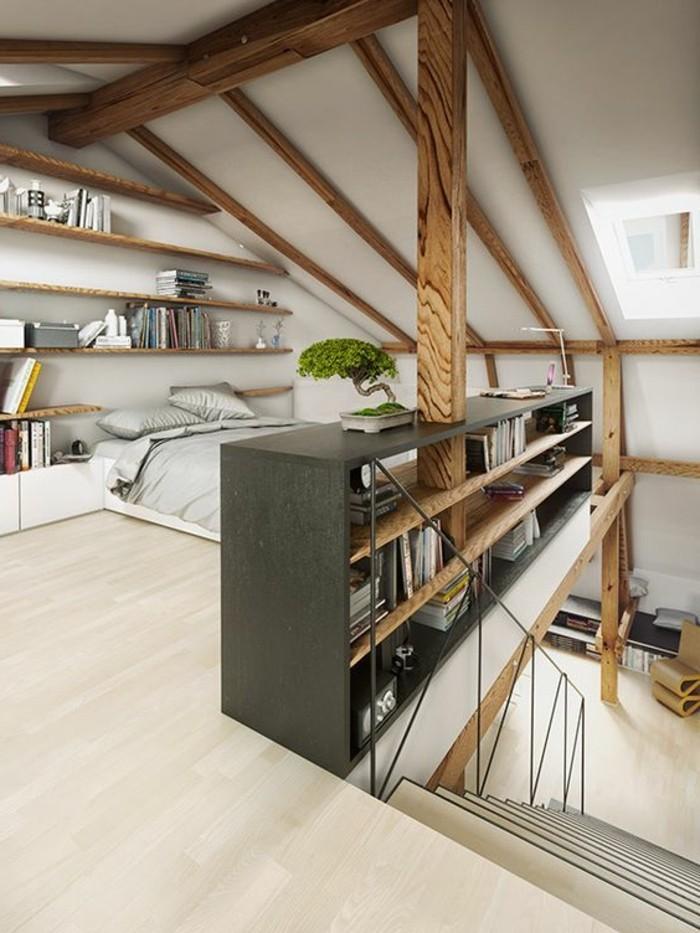 comment am nager une chambre mansard e. Black Bedroom Furniture Sets. Home Design Ideas