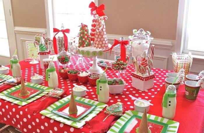 superbe-déco-anniversaire-faire-les-décorations-soi-meme-rouge-et-vert