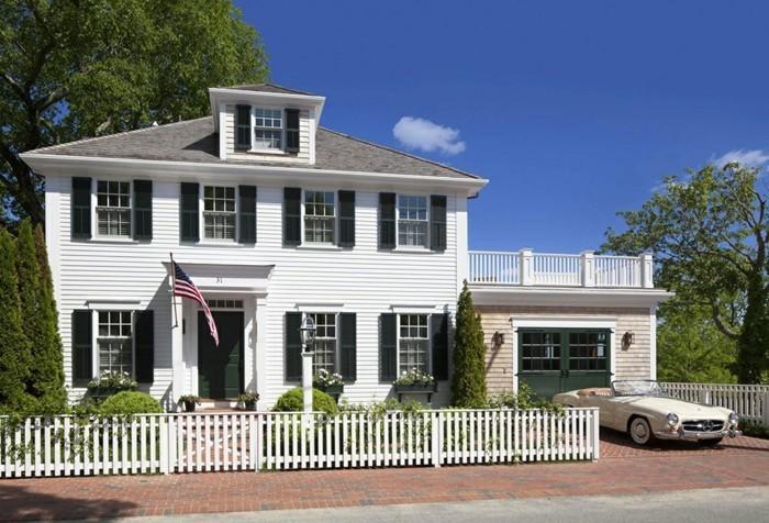superbe-idée-pour-votre-maison-style-colonial-blanche-cloture