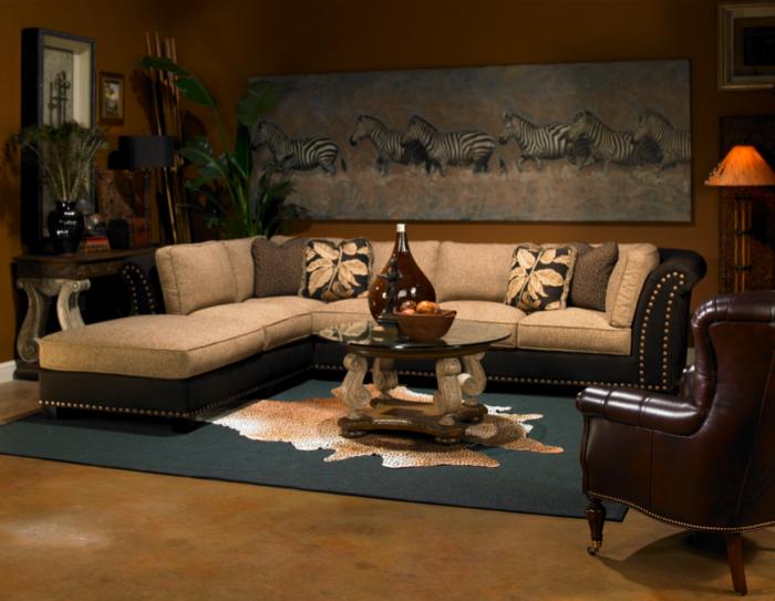 Design d 39 int rieur avec meubles exotiques 80 id e magnifiques - Objet decoratif salon ...