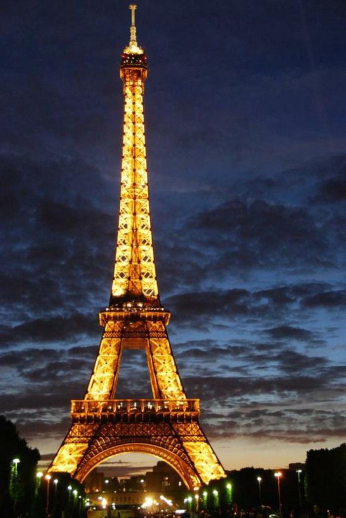 photos magnifiques de la tour eiffel illumin e