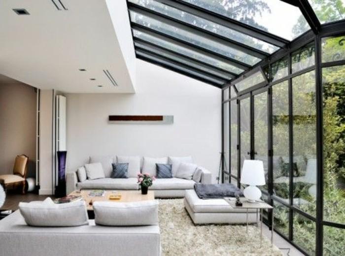 véranda-comment-bien-aménager-une-petite-veranda-vitrage-acier