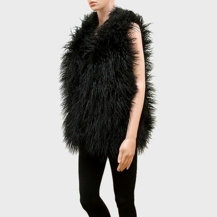 veste-fourrure-noir-comment-porter-le-veste-sans-manches-leggings-nois
