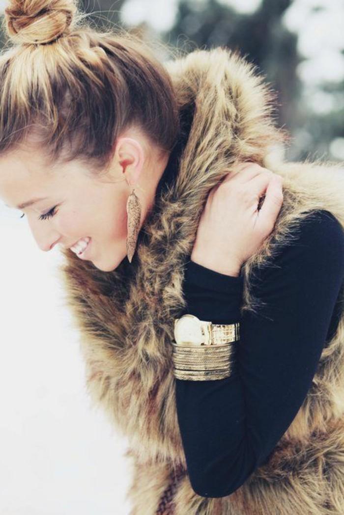 veste-sans-manche-femme-fourrure-comment-porter-le-gilet-fourrure-femme