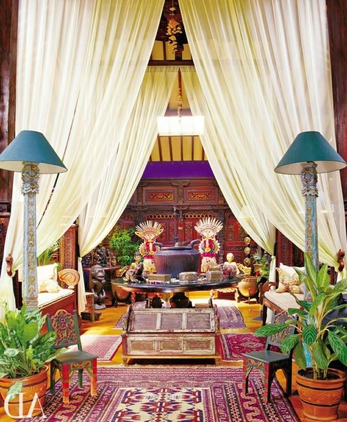 voir-les-meilleures-idées-meuble-salle-bain-bois-exotique-coloré