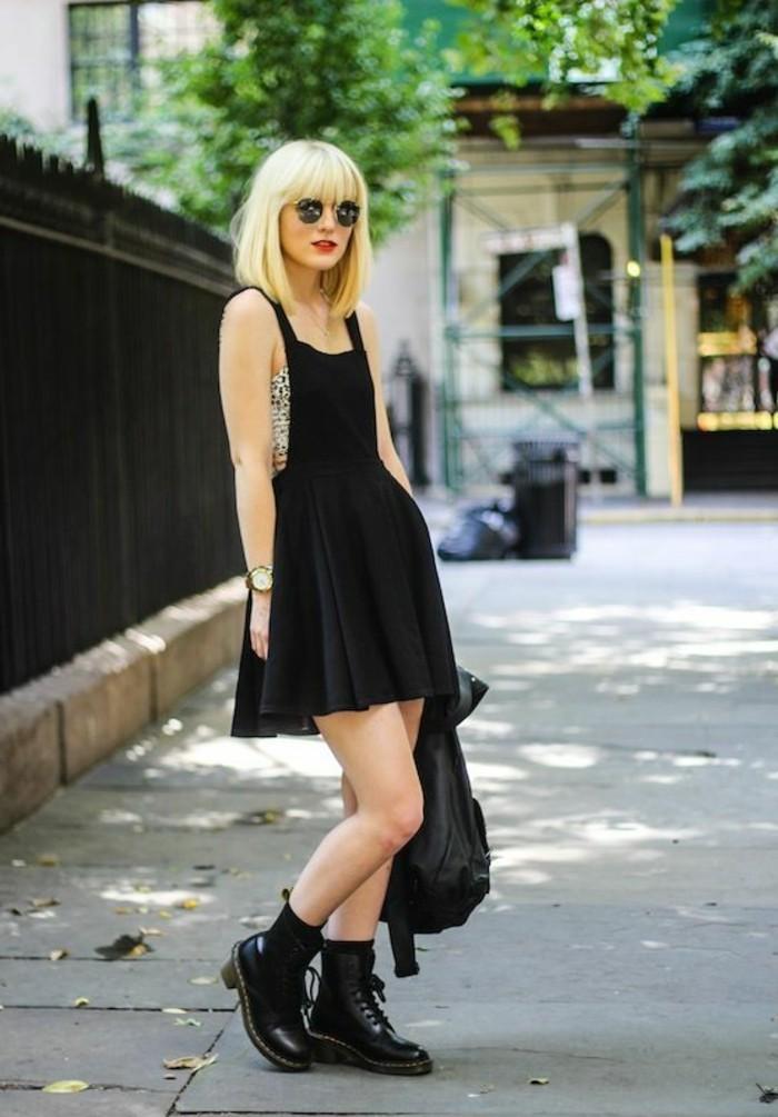 zara-la-robe-en-salopette-femme-bohème-chic-blonde