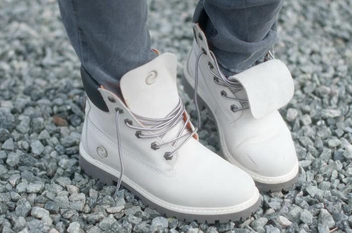 élégance-sandales-blanches-chaussure-blanc-hiver