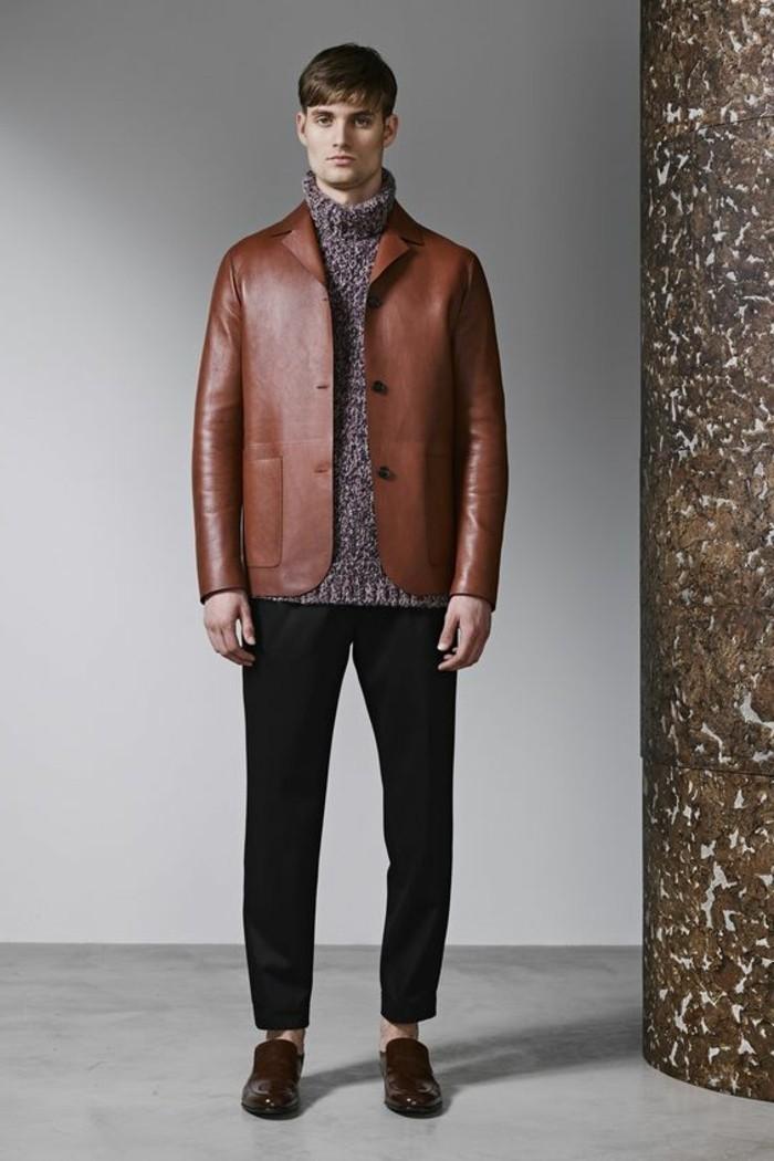 0-blouson-cuir-homme-redskins-en-cuir-marron-pull-homme-pas-cher