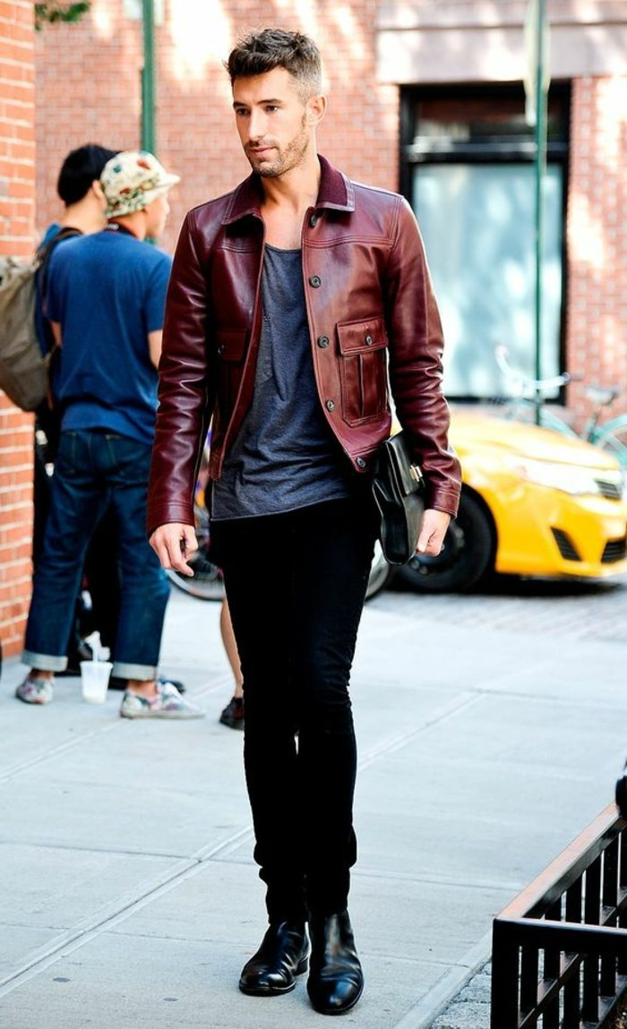 0-blouson-cuir-homme-redskins-en-cuir-rouge-foncé-pantalon-noir-homme-tendances