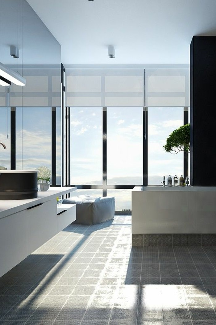 Comment cr er une salle de bain contemporaine 72 photos for Photo salle de bain contemporaine